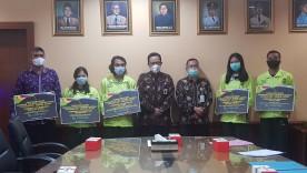 Pemkot Yogyakarta berikan Tali Asih kepada Pelatih dan Atlet Peraih Medali POPDA DIY Tahun 2020.