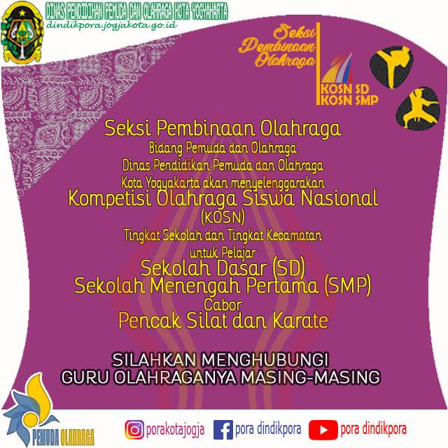 Kompetisi Olahraga Siswa Nasional (KOSN) SD dan SMP tingkat Kecamatan Se-Kota Yogyakarta