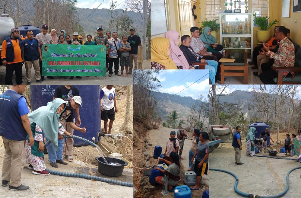 Kegiatan Bakti Sosial Droping Air Bersih Di Gunungkidul